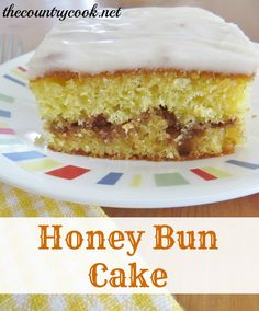 Honey Bun Cake...I may have already pinned, but this is one of the best, easiest cakes ever, and you can definitely use this as a coffee cake, too...call it a cinnamon roll cake, then lol