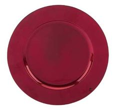Round Acrylic Red Charger Plate, 13