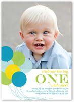 Flat Baby Boy First Birthday Invitations & Boy 1st Birthday Invites | Shutterfly