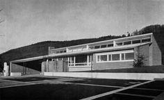 Primarschule Hausen (school) Hausen am Albis, Zürich, Switzerland; 1957-58  Rudolf Küenzi (photographs by Erwin Küenzi)