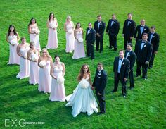 Pink bridesmaids dresses from Bridal Reflections photographed by www.exophotography.com