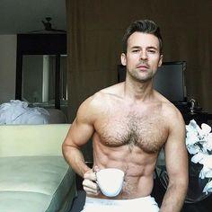 Stop What You're Doing and Look at This Pic of Brad Goreski Shirtless Brad Goreski, Men Coffee, G Man, Morning Joe, Mature Men, Shirtless Men, Man Photo, Man In Love, Hairy Men