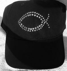 Bling Ichthus Hat by WalkinItOut on Etsy