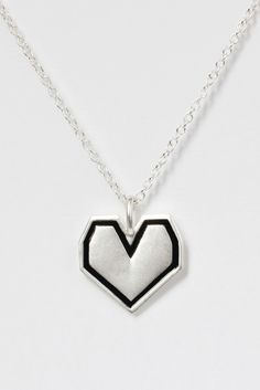 TWP Graphic Heart Necklace