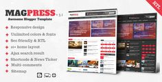 BloggersStand: Magpress V3.1 - Magazine Responsive Blogger Template