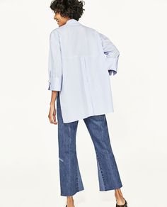 Image 5 of POPLIN SHIRT WITH PEARLS DETAIL from Zara