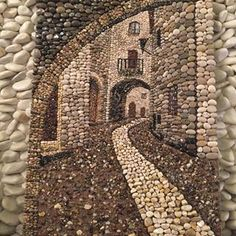 Kieselmosaik, à ‡ akà ± l taà ± Pebble art Pebblemosaic TaÅŸ sokak - Quilt Inspiration - Kunst Pebble Mosaic, Pebble Art, Mosaic Art, Stone Crafts, Rock Crafts, Arts And Crafts, Art Crafts, Art Rupestre, Art Pierre
