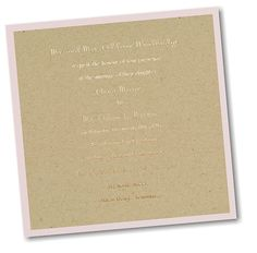 Genuine Love Layered Wedding Invitation