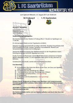 #Die #FCS #Fanbetreuung informiert!  #Zu #unserem Gastspiel #am #ko... #Die #FCS #Fanbetreuung informiert!  #Zu #unserem Gastspiel #am #kommenden #Mittwoch, 23.08.2017 #bei #der U23 #des #SC #Freiburg #im Moeslestadion #gibt #es folgende #Informationen, #die #ihr #wie #immer #auf #dem angefuegten Auswaertsflyer nachlesen #koennt. Zusaetzlich #gibt #es #heute #noch #ein Informationsblatt #der Badischen #Polizei, #mit #der #Bitte #um Beachtung.  #FC #Saarbruecken / #Saarland ht