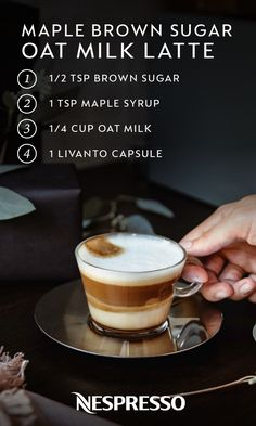 Nespresso Gifts for the Coffee Lover + Maple Brown Sugar Oat Milk Latte Recipe — Runway Chef Coffee Gifts, Coffee Drinks, Coffee Coffee, Coffee Beans, Coffee Tables, Coffee Island, Coffee Maker, Coffee Club, Brown Coffee