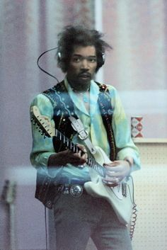 "Jimi Hendrix ""From The Other Side Of The Glass"" at The Record Plant Studios, NYC, 1968.  Eddie Kramer"