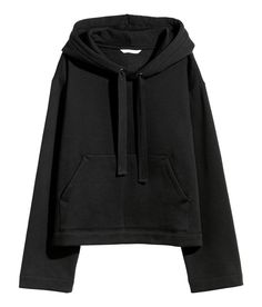 Shorter top in sweatshirt fabric with a lined hood, drawstring at the top, dropped shoulders and a kangaroo pocket. Outfit Essentials, Winter Fashion Outfits, Fall Winter Outfits, Dexter, Winter Coats Women, Coats For Women, Vsco, Hooded Sweatshirts, Hoodies