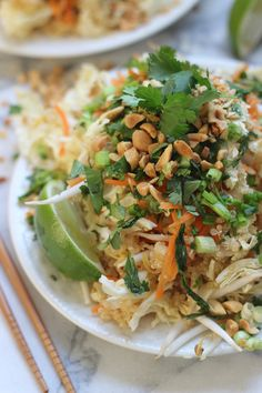 Quinoa Pad Thai - A healthy version of everyone's favorite Thai dish!