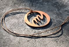 wood and copper OM amulet #yogipop