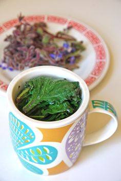 "Have you heard of borage? It's an omega 3-rich green that makes a great ""green"" tea"