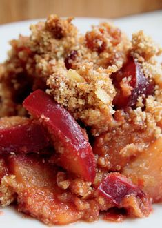 Mary McCartney's Plum and Pear Crumble
