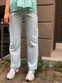 Pauline pants in mint mini gingham - Studio Onyva Plaid Outfits, Cool Outfits, Summer Outfits, Spring Summer Fashion, Winter Fashion, Girl Fashion, Fashion Outfits, Mens Fashion, Fashion Tips For Women