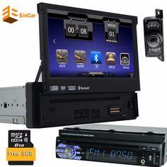 7inch Universal 1Din Car Audioradio DVD Player GPS Navigation car Multimedia player Stereo+Bluetooth+DVD Automotive+SD+USB+GPS #Affiliate