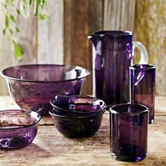 Amethyst Small Bowls, Set of 4 This whole set....#swoon @Williams-Sonoma