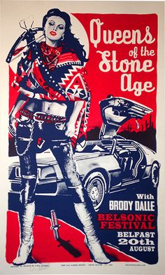Queens of the Stone Age gig poster for UK show, Screen print by Chris Hopewell. Limited run of 300 Concert Flyer, Concert Posters, Gig Poster, Music Background, Concert Rock, Pop Posters, Music Posters, Rock Band Posters, Stoner Rock