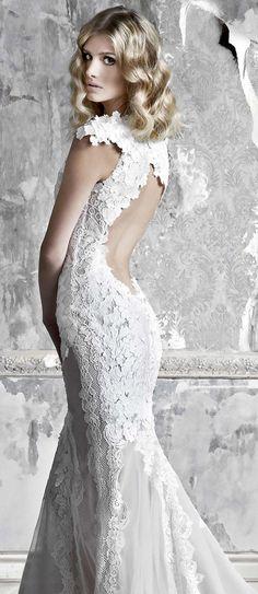 Pallas Couture 2015  Wedding Dresses -- La Promesse  Bridal Collection  keyhole back mermaid 552b4b82d2
