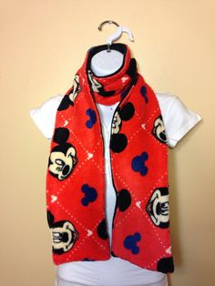 New to Sewdivine77 on Etsy: Mickey Mouse double layered fleece scarf (12.00 USD)