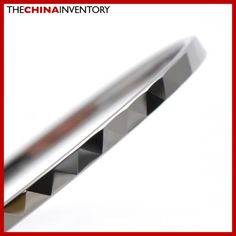 3MM 7.25`TUNGSTEN CARBIDE FACETED BANGLE BRACELET B3205