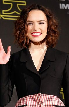 Daisy Ridley Shoulder Height Curls Haircuts
