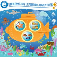 Come under the sea for a learning adventure, developed for 2-5 year olds