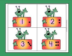 Cute math work station labels. Could also be used for basic number sense activities.