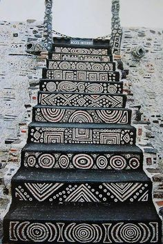 S A Design Stairs  - seeing tangle pattern/s