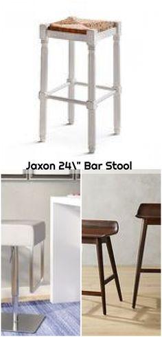 "Jaxon 24"" Bar Stool ,  ,  #bar #Jaxon #Stool White Bar Stools, 24 Bar Stools, Counter Bar Stools, Bar Chairs, Back Bar, Weathered Oak, Modern Industrial, White Oak, Easy Projects"