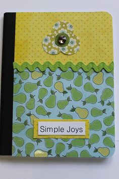 Customized Composition Notebook in Bartlett by TheGreenDoorCottage, $9.00
