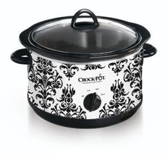 Crock Pot SCR450-PT 4-1/2-Quart Slow Cooker, Black Demask Pattern: $20