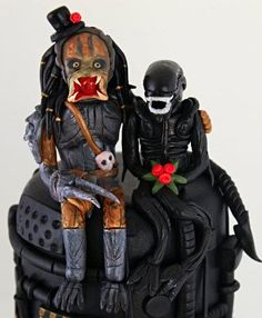 Alien vs predator cake