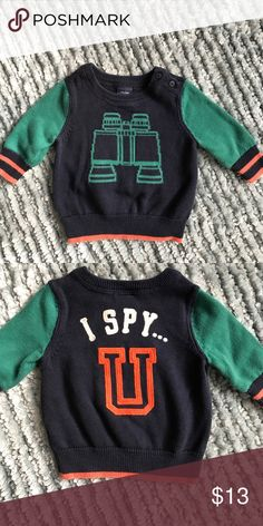 Baby gap. Preppy sweater 0-3 months Adorable little preppy sweater worn 2x like brand new baby gap Shirts & Tops Sweaters