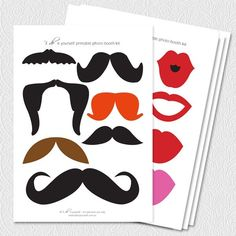 Photo Booth Props Downloads- Free Printable. TONS!