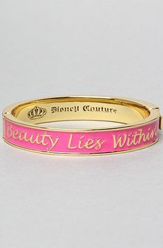 nice Disney Couture Jewelry The Beauty Lies Within Bracelet,Jewelry for Women