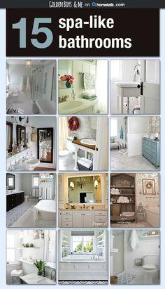 15 stunning spa like bathroom inspirations - Spa Bathroom Decor