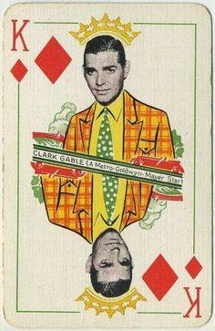 Clark Gable 1933 Thomas De La Rue MGM Film Stars Playing Card - Red Back #ThomasDeLaRue