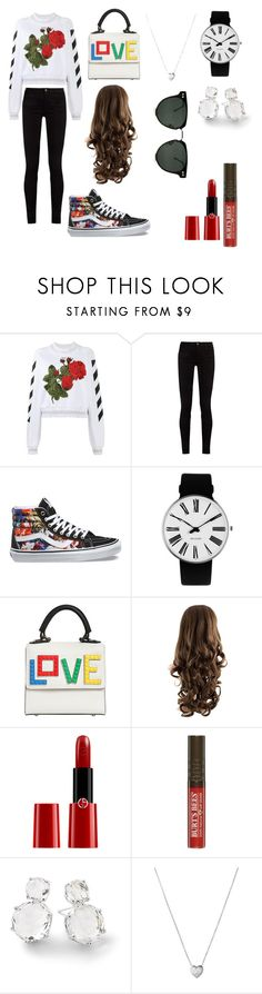 """in home"" by meme-111 ❤ liked on Polyvore featuring Off-White, Gucci, Vans, Rosendahl, Les Petits Joueurs, Giorgio Armani, Ippolita, Links of London and Spitfire"