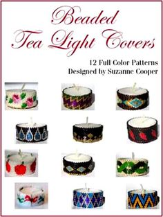 BEADED TEA LIGHT COVERS BEADWORK E-BOOK