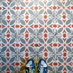 Brace yourselves! Looks like winter's arrived in #Barcelona  These #tiles are from la Plaça del Sol  in Gràcia! #TileAddiction