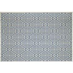 Momeni Baja Diamond Geometric Indoor Outdoor Rug ($29) ❤ liked on Polyvore featuring home, rugs, blue, blue area rugs, geometric area rugs, momeni rugs, geometric rug and blue geometric area rug