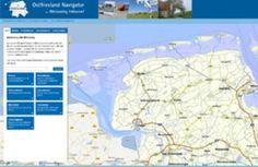Karte für Ostfriesland - Übersichtskarte Landkarte map maps - Ostfriesland Tourismus GmbH