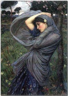 """""""Boreas"""", J.W. Waterhouse, 1903"""