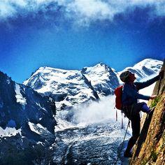 climbing in Chamonix (via Arc'teryx athlete Isabelle Santoire)