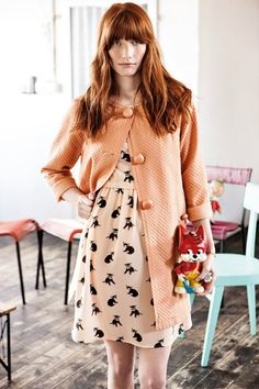 Cat print dress / Robe avec imprimés chat