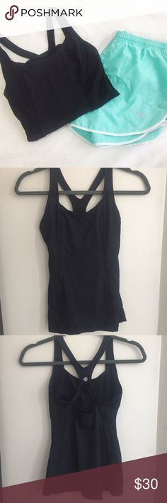 "Lululemon | Black Bra Top w/Mesh Sides | Size: 4 Lululemon | Black Bra Top w/Mesh Sides | Size: 4 | Great Condition | True to Size | No Wear or Damage | Pet/Smoke Free Home | Bust: 24"" Waist: 32"" Length: 21"" lululemon athletica Tops Tank Tops"