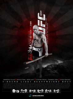 UFC on Fuel 8 poster design